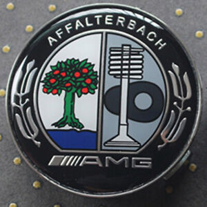 4pcs 75mm Wheel Center Hub Caps Cover Affalterbach Logo Badge Emblem For Amg