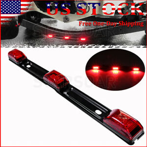 16 Stainless Red Led Id Bar Light Truck Boat Trailer Marker Clearance Lights