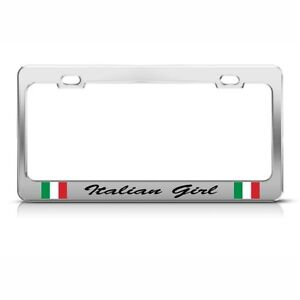 License Plate Frame Italian Girl Italy Car Accessories Stainless Steel
