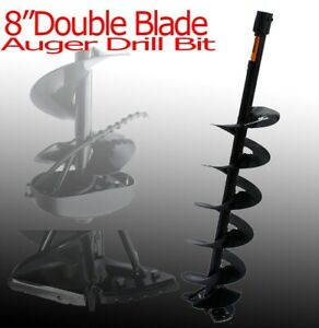 New 8 X3ft Depth Double Blade Post Hole Fence Hole Digger Machine Auger Bit