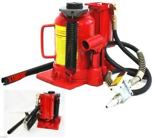 20 Ton Pneumatic Air Hydraulic Adjustable Bottle Jack 40 000lbs Lift