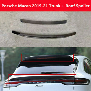 Fit Porsche Macan 2019 Real Carbon Fiber Trunk Middle Spoiler Rear Roof Wing