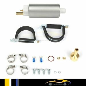Universal High Pressure In Line Electric Fuel Pump For Msd 2225 43 Gph 40 Psi