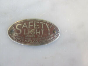 Unity Safety Light Model S 1 Badge Top Of Spotlight 37 38 39 40 Chevrolet Ford