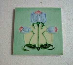 Old Vintage Collectible Rare Design Ceramic Tiles Made In England 1 Pc 6x6 Inch