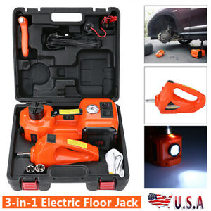 Car Jack Lift 5 Ton 12v Dc Electric Hydraulic Floor Jack With Impact Wrench Kit