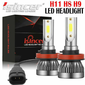 Isincer H8 H11 Led Headlight Hid Bulb Conversion Kit Low Beam 6500k 990000lm