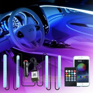 Rgb Led Lights Car Interior Floor Decor Atmosphere Strip Lamp Parts Accessories