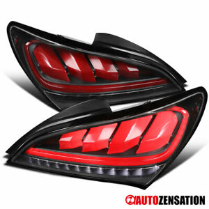 For 2010 2016 Hyundai Genesis Coupe Black Led Tail Lights Sequential Led Signal