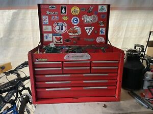 Vintage Snap On 9 Drawer Tool Chest Box Cabinet Kra 59a Red
