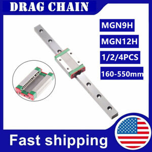 1 2 4pcs Mgn9h Mgn12h Miniature Linear Slide Rail Guide Block Cnc 3d Printer