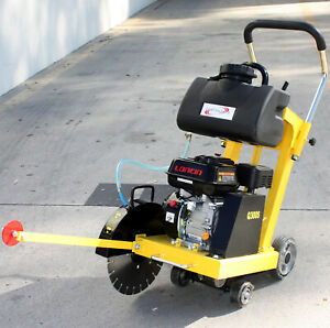 14 6 5hp Gas Walk Behind Cut off Saw W Blade Tank For Concrete Cement Floor