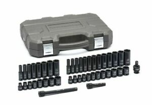 Gearwrench 84916n 44 Piece Sae Metric 3 8 Inch Drive 6 Point Impact Socket Set