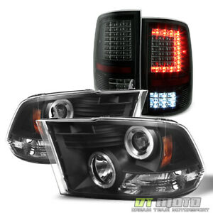 2009 2018 Dodge Ram 1500 2500 3500 Projector Headlights C Style Led Tail Lights
