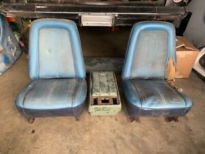 1969 1972 Chevy C10 Truck Bucket Seats Assy Oem Gmc Chevrolet And Console