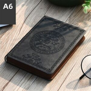 2021 Diary Vintage Pattern Pu Leather Notebook Notepad Stationery Gift