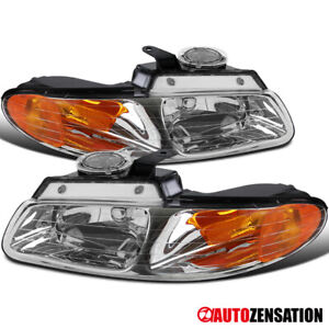 For 1996 2000 Dodge Grand Caravan Chrysler Town Country Clear Headlights 98 99