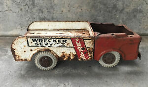 1950 s Marx Powerhouse Turnpike Wrecker Tow Truck Pressed Steel For Parts
