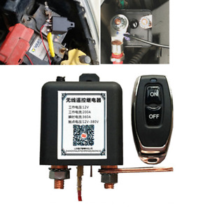 Wireless Remote Car Battery Quick Cut off Disconnect Master Kill Switch Relay