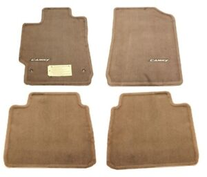 Genuine Front Rear Carpet Floor Mats Set 4pcs Brown For Toyota Camry 2007 2011