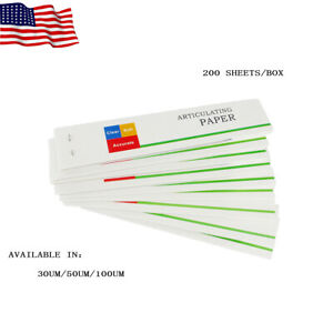 200sheets Easyinsmile Dental Articulating Paper Soft Thin Strips Accurate Sheet