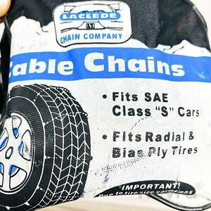 Laclede 1042 Tire Snow Cable Chains Fits Sae Class S Cars Bias Ply Tires