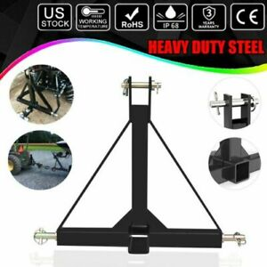 3 Point 2 Receiver Trailer Hitch Category 1 Tractor Tow Drawbar Adapter Us Ship