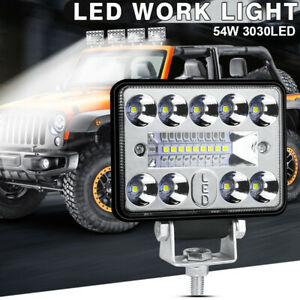 Car Led Work Light 3 Inch 19 Led High Power High Brightness White Car Lights