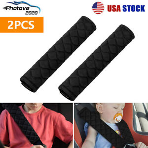 2pcs Car Safety Seat Belt Shoulder Pads Harness Comfortable Pad Cover Cushion