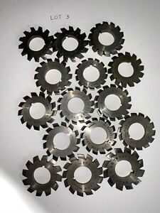 Lot Of U t d Co Involute Gear Cutters Set Misc No 1 4 5 6
