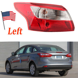 Left Driver Outer Tail Light For Ford Focus 2012 2013 2014 4 Door Sedan Lamp Lh