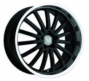 1 New Tsw Mandrus Millenium Wheel Rim 22x9 5x112 Gloss Black W Mirror Cut Lip