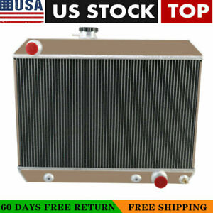 For 1965 1966 1967 Pontiac Tempest Lemans Gto 5 3l V8 4 Rows Aluminum Radiator