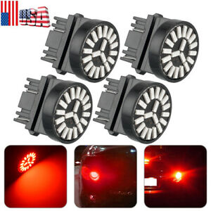 4x Led Brake Stop Tail Light Bulbs 3157 3057 Red For Chevy Silverado 1999 2013