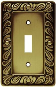 Franklin Brass 64049 Paisley Single Switch Wall Plate Tumbled Antique Brass $7.65