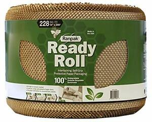 200 X 14 Ranpak Ready Roll Protective Paper Cushioning Wrap Bubble Wrap A