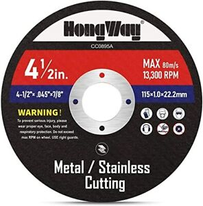 Thin Metal Cutting Disc For Angle Grinder 10 Pack 4 1 2 7 8 in