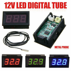 12v Digital Thermometer Meter Parts Temperature Waterproof Accessories