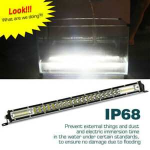 20 Spot Flood Combo Beam Led Work Lights Bar 1200w High Power Driving Lamps