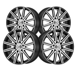 4 Mandrus Stark 18x8 6x130 84 1 Hub 52 Offset Mm Mirror Machined Wheel Rim