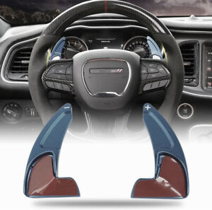 Steering Wheel Paddle Extend Shifter Trim For Dodge Charger Challenger 2015 blue