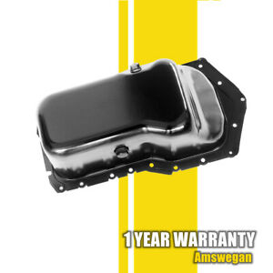 Stamped Steel Engine Oil Pan Sump For Buick Chevy Olds Pontiac 3 8l 12563240