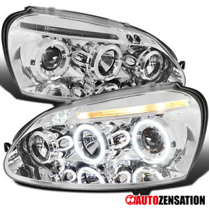For 2006 2008 Volkswagen Golf Mk5 Jetta Led Halo Projector Headlights Left right