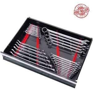 Wrench Organizer Tray Rail Storage Rack Sorter Socket Holder Set Of 40 Tool Box