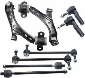 8x Front Lower Control Arms Outer Inner Tierod For 2005 2009 2010 Ford Mustang