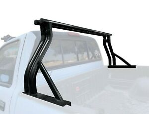 Universal Extendable Roll Bar For Pickup Truck Sport Bar Double Rack Matte Black