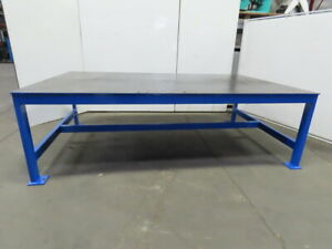 1 2 Thick Top Steel Fabrication Welding Layout Table Work Bench 120 lx73 wx37 h