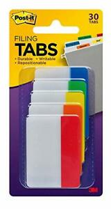 Post it Tabs 2 In Solid Assorted Colors 6 Tabs color 5 Colors 30 Tabs pack 68