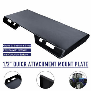 Hd 1 2 Quick Attach Mount Plate Attachment For Tractors Skidsteers Loaders