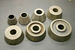 Ammco 7 piece Tapered Centering Cone Adapter Set Brake Lathe Kit